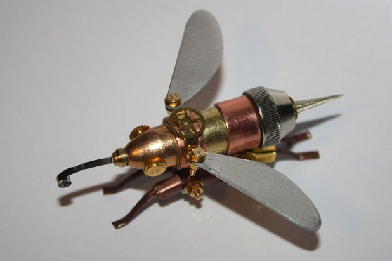 Steampunk hornet from Arthrobots