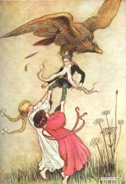Goble Illustration of Snow White and Rose Red